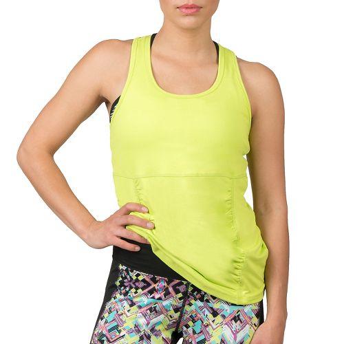 Womens Soybu Challenge Sleeveless & Tank Technical Tops - Neon Grove M