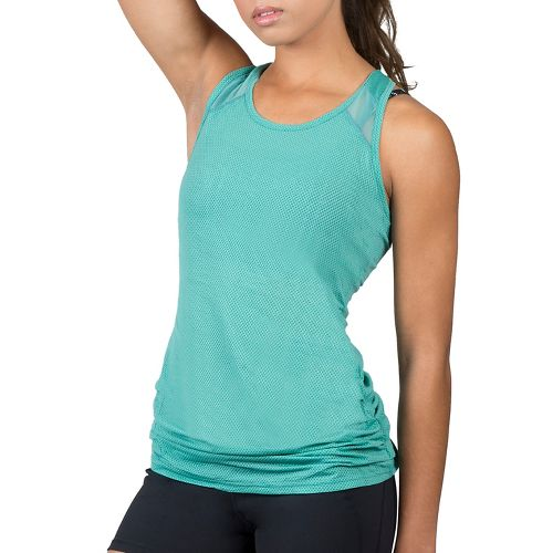 Womens Soybu Plank Sleeveless & Tank Technical Tops - Watercress L
