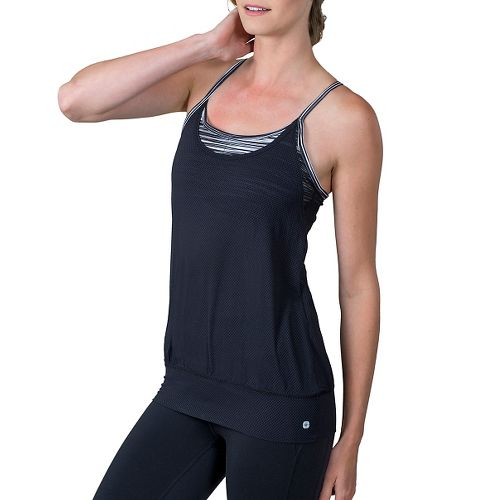 Womens Soybu Aria Sleeveless & Tank Technical Tops - Black Wave L