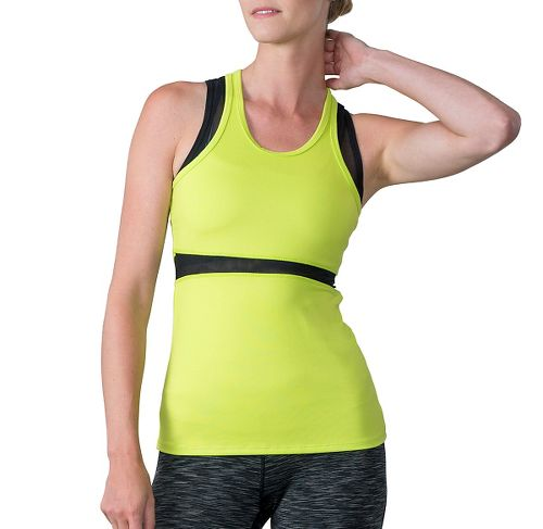 Womens Soybu Koa Sleeveless & Tank Technical Tops - Neon Grove L