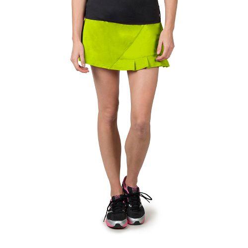 Womens Soybu Jayla Skorts Fitness Skirts - Neon Grove L