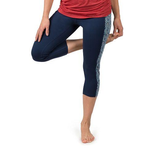 Womens Soybu Toni Capris Pants - Blue Arrow XL