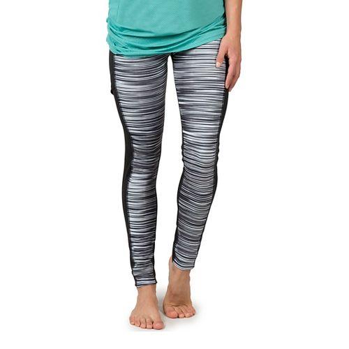 Womens Soybu Toni Tights & Leggings Pants - Black Wave L