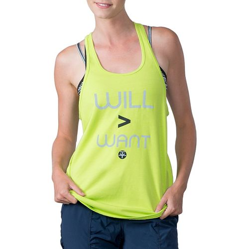 Womens Soybu Graf Sleeveless & Tank Technical Tops - Neon Grove L