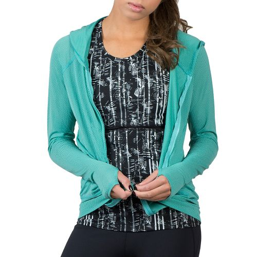 Womens Soybu Wendy Hoodie & Sweatshirts Technical Tops - Watercress L
