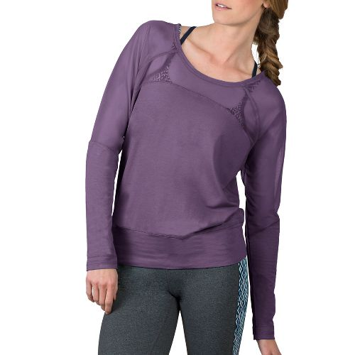 Womens Soybu Suzette Dolman Hoodie & Sweatshirts Technical Tops - Silver Plum L