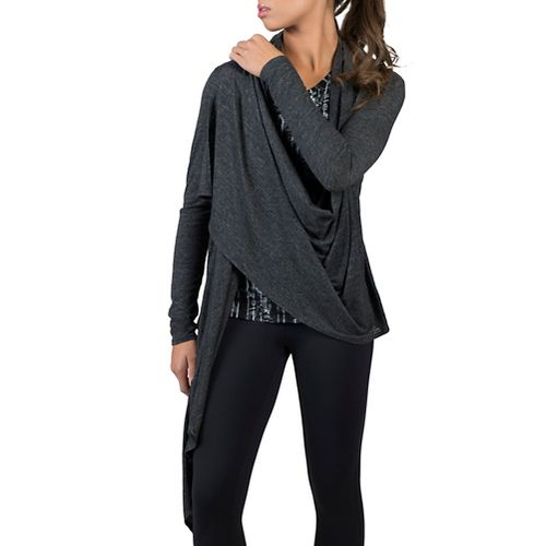 Womens Soybu Shelby Wrap Long Sleeve Non-Technical Tops - Black L