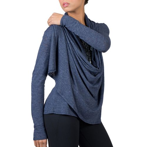 Womens Soybu Shelby Wrap Long Sleeve Non-Technical Tops - Admiral XXL