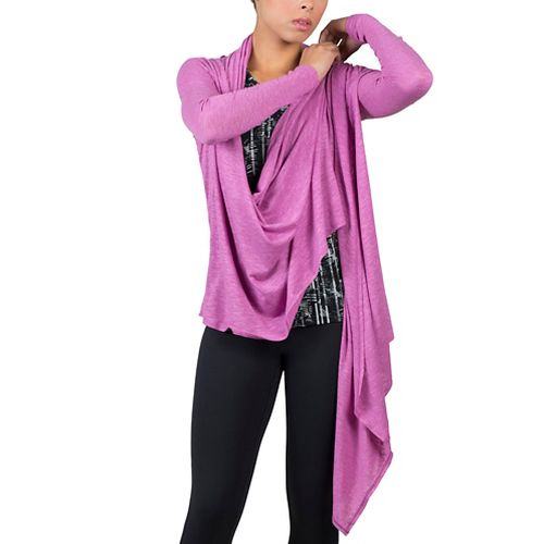 Womens Soybu Shelby Wrap Long Sleeve Non-Technical Tops - Starboard L