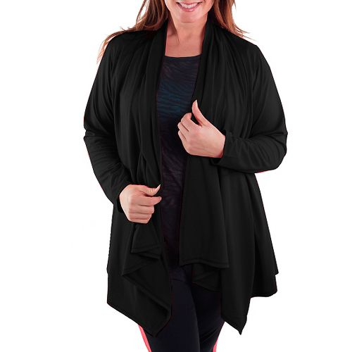 Katie K Freeflow Cardigan Long Sleeve Technical Tops - Black M