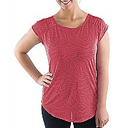 Katie K Signature Burnout Open Back Tee Short Sleeve Technical Tops