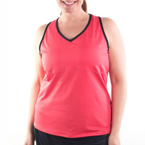 Katie K Signature Racer Back Sleeveless & Tank Technical Tops - Coral/Black XL