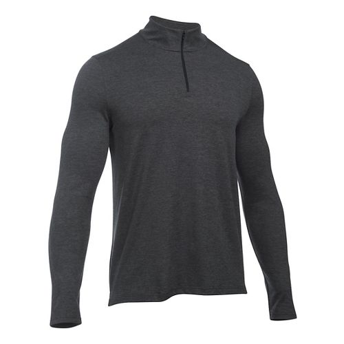 Mens Under Armour Power 1/4 Zip Long Sleeve Technical Tops - Asphalt Heather M