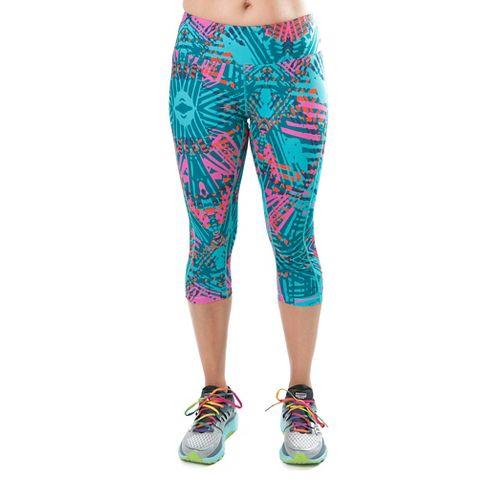 Katie K Rush-hour Capris Pants - Aqua Palm XL