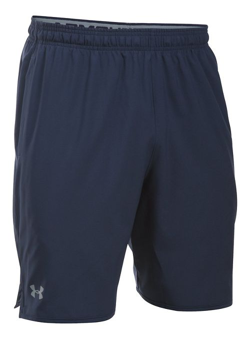 Mens Under Armour Qualifier Woven Unlined Shorts - Midnight Navy/Steel XXL