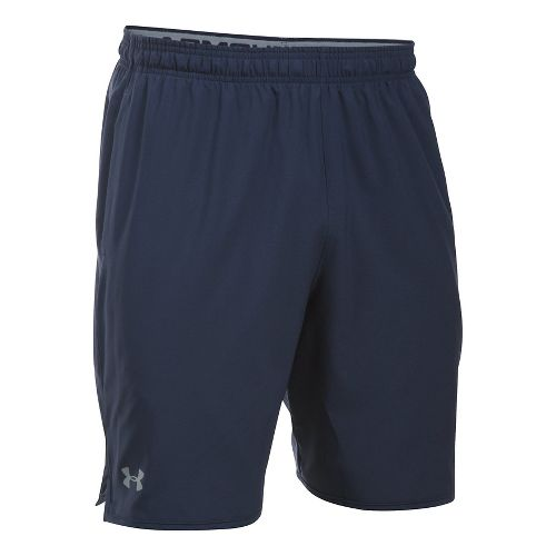 Mens Under Armour Qualifier Woven Unlined Shorts - Midnight Navy/Steel S