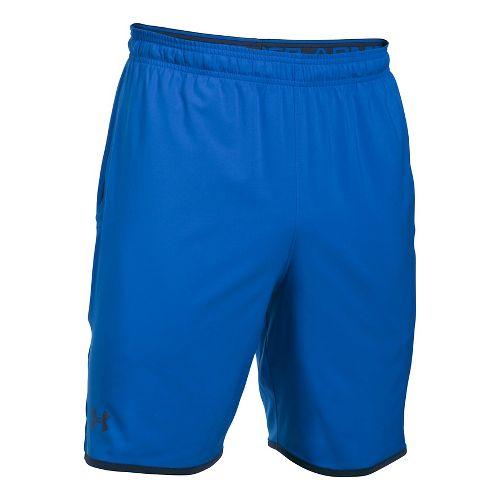 Mens Under Armour Qualifier Woven Unlined Shorts - Blue Marker/Black M