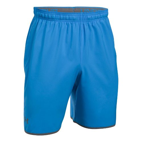 Mens Under Armour Qualifier Woven Unlined Shorts - Mako Blue/Graphite L