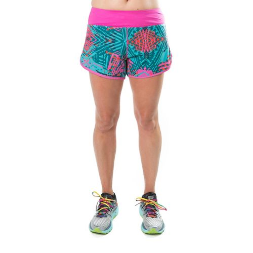 Katie K Rush-hour Lined Shorts - Aqua Palm 1X