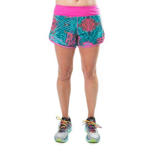 Katie K Rush-hour Lined Shorts - Aqua Palm 2X