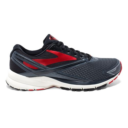 Mens Brooks Launch 4 Running Shoe - Anthracite/Black 10