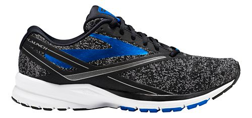 Mens Brooks Launch 4 Running Shoe - Black/Blue 11.5
