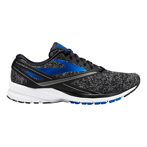 Mens Brooks Launch 4 Running Shoe - Black/Blue 11.5