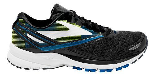 Mens Brooks Launch 4 Running Shoe - Black/Blue/Lime 10.5
