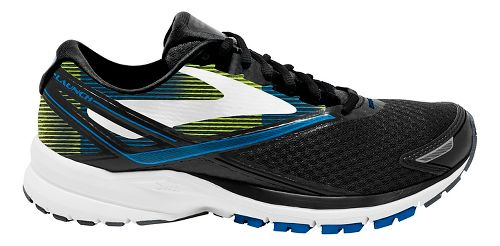 Mens Brooks Launch 4 Running Shoe - Black/Blue/Lime 8
