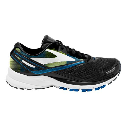 Mens Brooks Launch 4 Running Shoe - Black/Blue/Lime 11