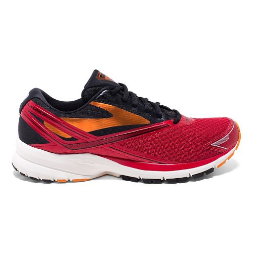 Mens Brooks Launch 4 Running Shoe - High Risk Red/Black 10.5