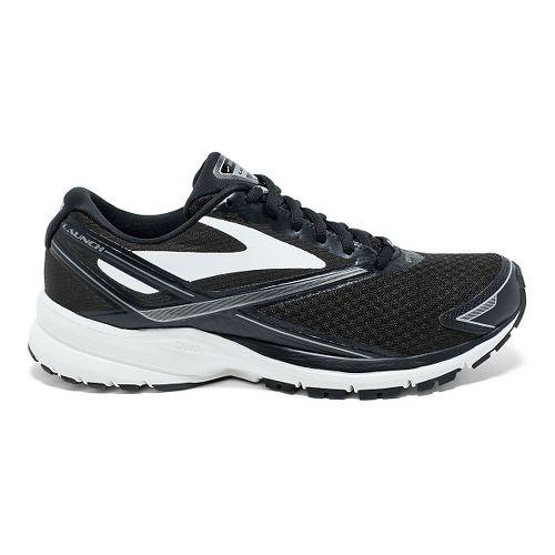 Womens Brooks Launch 4 Running Shoe - Black/White/Silver 10