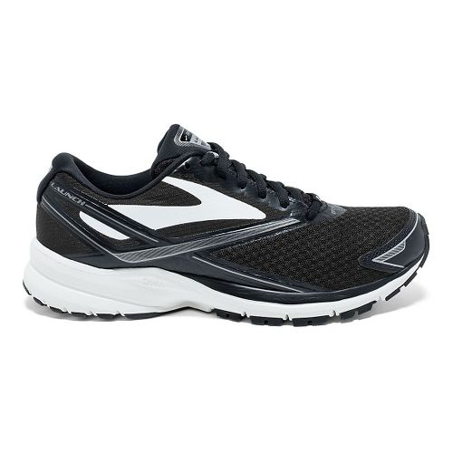 Womens Brooks Launch 4 Running Shoe - Black/White/Silver 7.5