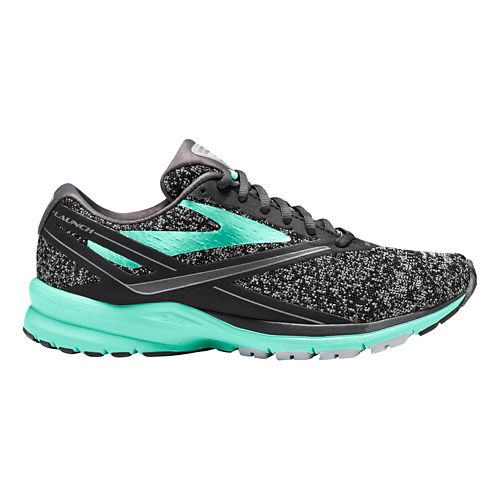 Womens Brooks Launch 4 Running Shoe - Black/Turquoise 10.5