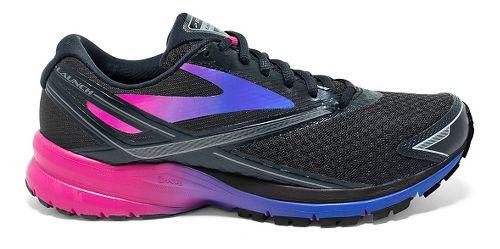 Womens Brooks Launch 4 Running Shoe - Black/Fuchsia Purple 7