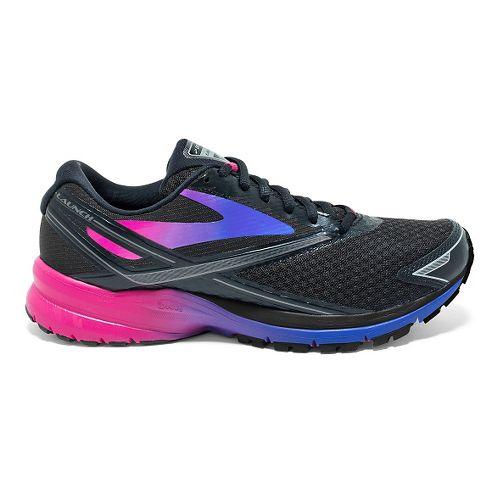 Womens Brooks Launch 4 Running Shoe - Black/Fuchsia Purple 6