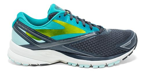 Womens Brooks Launch 4 Running Shoe - Anthracite/Teal 9