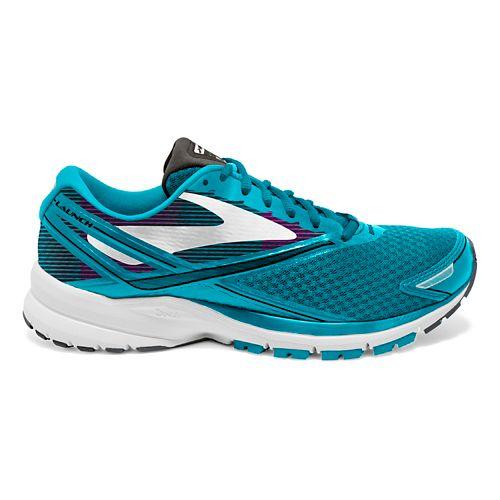 Womens Brooks Launch 4 Running Shoe - Teal/White 9.5