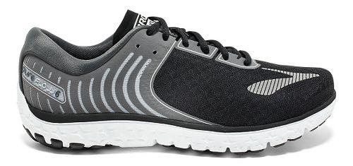 Mens Brooks PureFlow 6 Running Shoe - Black/Silver 10.5