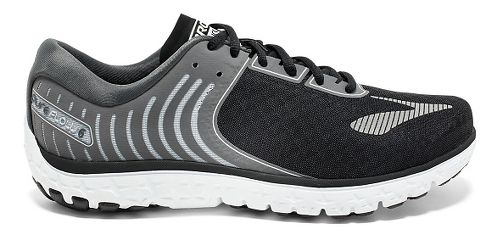 Mens Brooks PureFlow 6 Running Shoe - Black/Silver 12.5