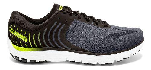 Mens Brooks PureFlow 6 Running Shoe - Black/Silver 12.5