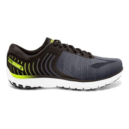 Mens Brooks PureFlow 6 Running Shoe - Black/Lime 12.5
