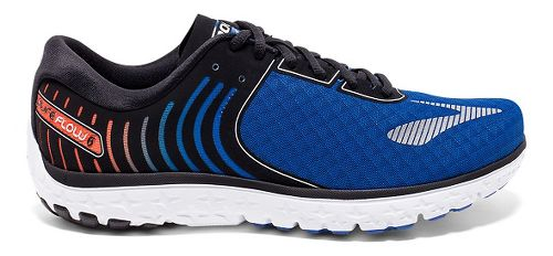 Mens Brooks PureFlow 6 Running Shoe - Black/Lime 12.5