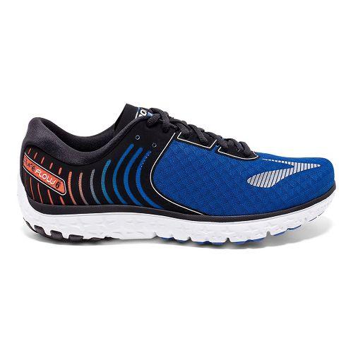 Mens Brooks PureFlow 6 Running Shoe - Black/Silver 9.5