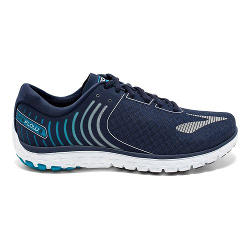 Mens Brooks PureFlow 6 Running Shoe - Peacoat/Methyl Blue 9.5