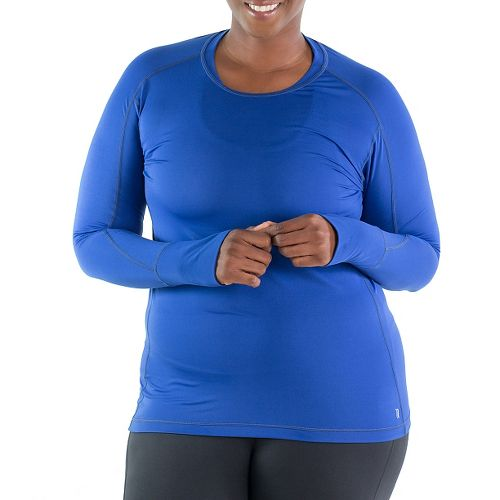 Katie K Long Sleeve Technical Tops - Cobalt L