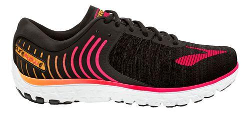 Womens Brooks PureFlow 6 Running Shoe - Black/Pink 7.5