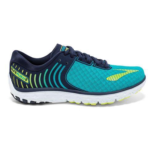 Womens Brooks PureFlow 6 Running Shoe - Bluebird/Peacoat 10