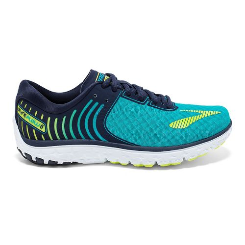 Womens Brooks PureFlow 6 Running Shoe - Bluebird/Peacoat 8.5