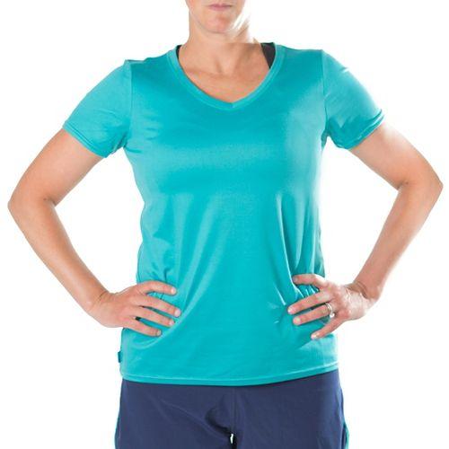 Katie K Rush-hour Tunic Tee Short Sleeve Technical Tops - Aqua 2X